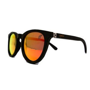 Sunset Mirror Lenses with Black Bamboo Temples